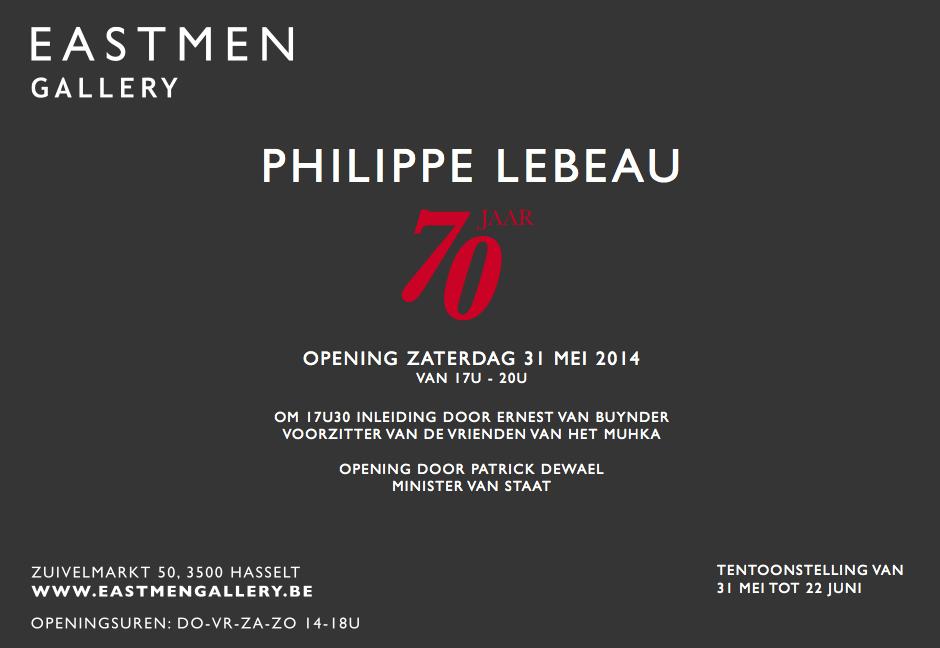 Eastmen Gallery 70 jaar Philippe Lebeau